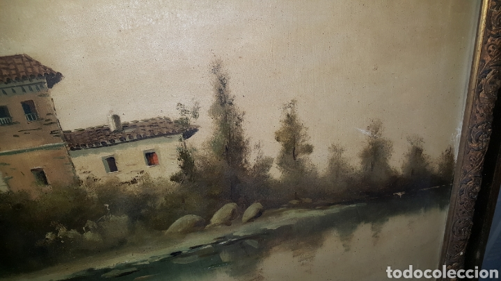 Arte: Cuadro antiguo, fimado medidas 120x80cm - Foto 6 - 184695862
