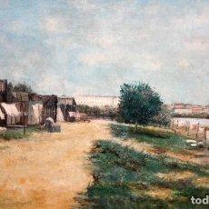 Arte: MADRID DESDE EL MANZANARES - OLEO TELA - SG XIX - 61 X 92 CM.. Lote 184725153