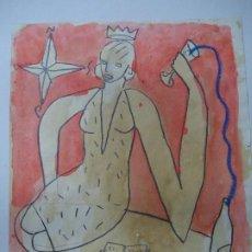 Arte: PRECIOSO Y ORIGINAL DE JORGE CABEZAS A CORUÑA 1997 MIDE 25 X 21CM. EN PERFECTO ESTADO ES ORIGINAL . Lote 184726140