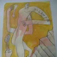 Arte: PRECIOSO Y ORIGINAL DE JORGE CABEZAS A CORUÑA 1997 MIDE 29 X 20CM. EN PERFECTO ESTADO ES ORIGINAL . Lote 184727397