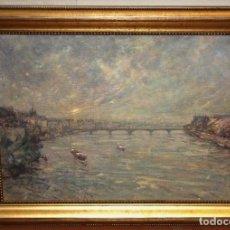 Arte: JAUME MALARET - PARIS - OLEO TELA - 60 X 80 CM.. Lote 184728236