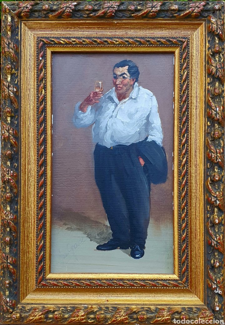 JUAN GRANDE (JEREZ) PEQUEÑA E INTERESANTE PINTURA FIRMADA. (Arte - Pintura - Pintura al Óleo Contemporánea )