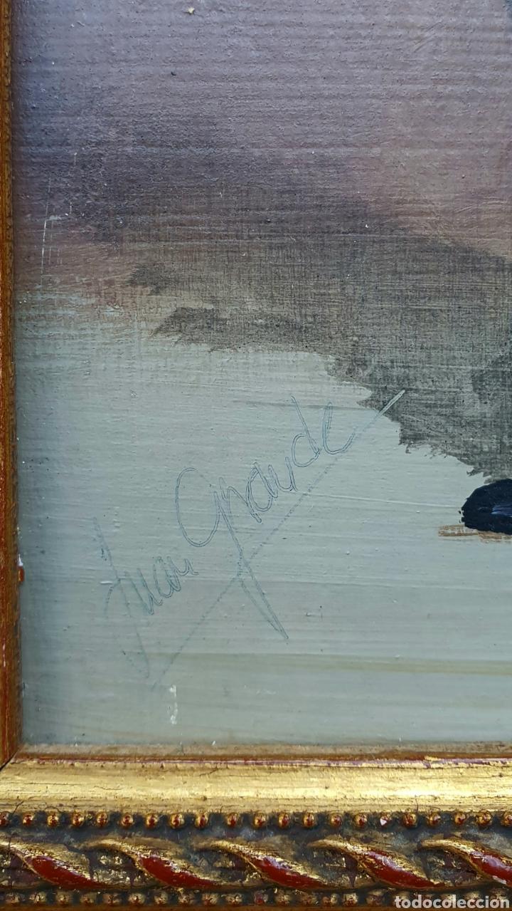 Arte: Juan Grande (Jerez) pequeña e interesante pintura firmada. - Foto 2 - 184752141