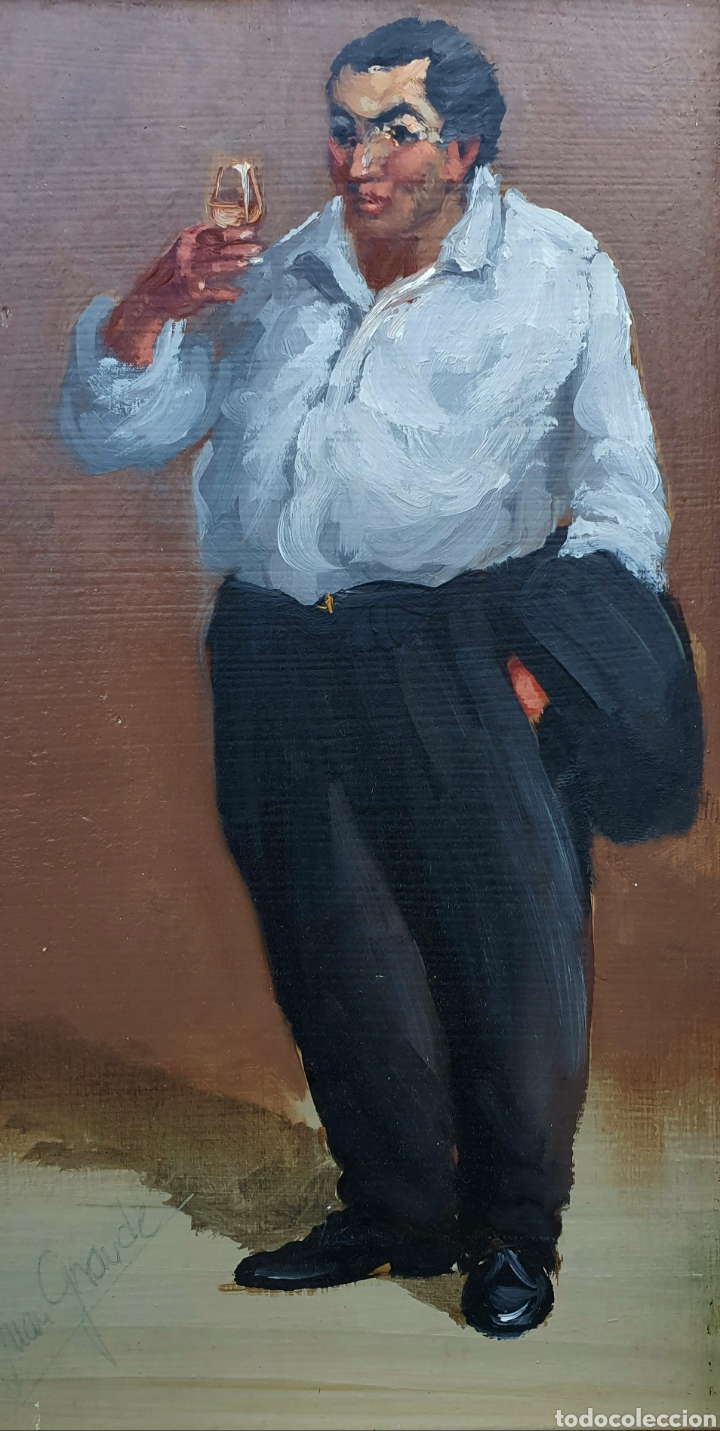 Arte: Juan Grande (Jerez) pequeña e interesante pintura firmada. - Foto 3 - 184752141