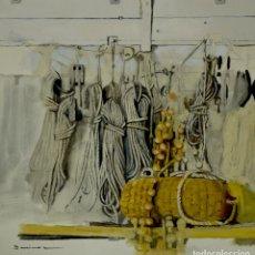 Arte: CUERDAS MARINAS 2. PINTURA AL ÓLEO SOBRE CARTÓN COUCHÉ, 40X39CM, OBRA ORIGINAL DE PEP ENCINAS. Lote 184759408