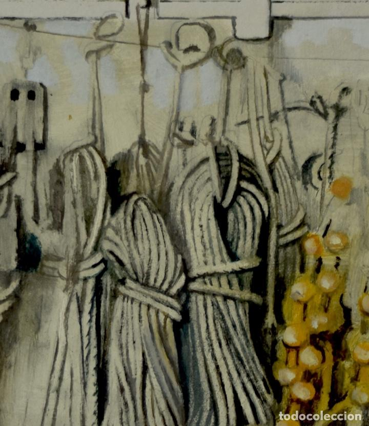 Arte: Cuerdas marinas 2. Pintura al óleo sobre cartón couché, 40x39cm, Obra original de Pep Encinas - Foto 2 - 184759408
