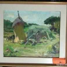 Arte: ROSSEND GONZALEZ CARBONELL (1910 - 1984). OLEO SOBRE TELA. CARRO.. Lote 184769447