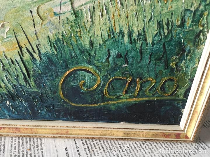 Arte: Gran óleo caballos a espátula firmado Cano - Foto 2 - 184801535