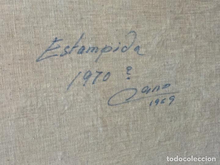 Arte: Gran óleo caballos a espátula firmado Cano - Foto 3 - 184801535