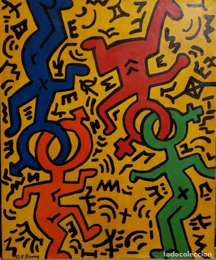 keith haring painting oil canvas - attributed a - Buy Contemporary ...