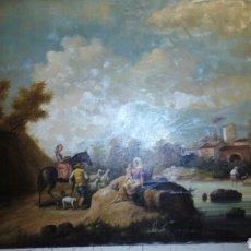 Arte: IMPRESIONATE CUADRO OLEO SOBRE LIENZO 140X97 CM GRANDE ,JEAN FRANCOIS MILLET. Lote 184262211