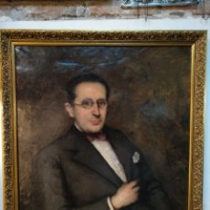 Arte: ÓLEO, RAMÓN LAPORTA ASTORT ( BARCELONA 1888-1936). RETRATO SEÑOR. Lote 184915296