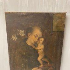 Arte: ANTIGUO ÓLEO SOBRE LIENZO DE SAN ANTONIO DE PADUA. SIGLO XVII. 95X70. Lote 165742010