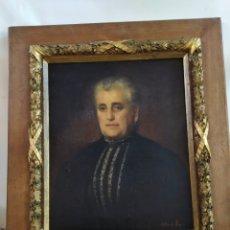 Arte: ANTIGUO RETRATO ÓLEO SOBRE LIENZO FIRMADO GRAN TAMAÑO SIGLO XIX. Lote 184932115