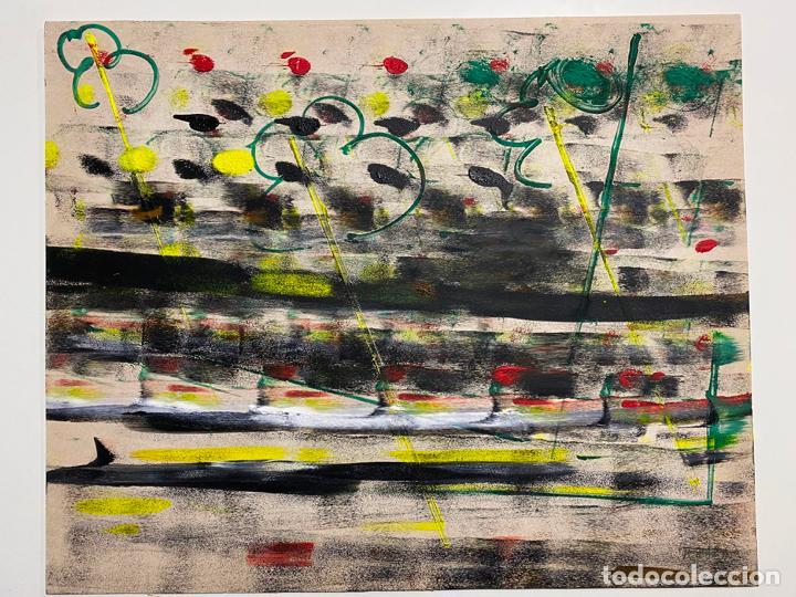 GERARDO DELGADO . PINTURA ORIGINAL , ABSTRACCIÓN , ACRILICO , FIRMADO 1988 , SEVILLA (Arte - Pintura - Pintura al Óleo Contemporánea )