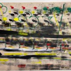 Arte: GERARDO DELGADO . PINTURA ORIGINAL , ABSTRACCIÓN , ACRILICO , FIRMADO 1988 , SEVILLA. Lote 124435147
