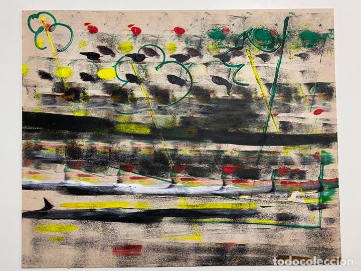Arte: GERARDO DELGADO . PINTURA ORIGINAL , ABSTRACCIÓN , ACRILICO , FIRMADO 1988 , SEVILLA - Foto 9 - 124435147