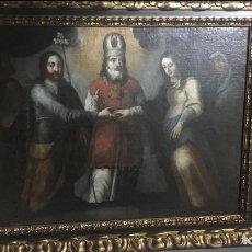 """Arte: ÓLEO SOBRE LIENZO """"LOS ESPONSALES VIRGEN MARÍA"""" SEGUIDOR DE MATÍAS DE ARTEAGA SIGLO XVII-XVIII.. Lote 179321005"""