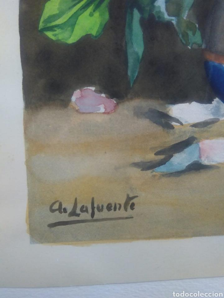 Arte: A. LAFUENTE ACUARELA MOTIVO FLORAL - Foto 2 - 185659637