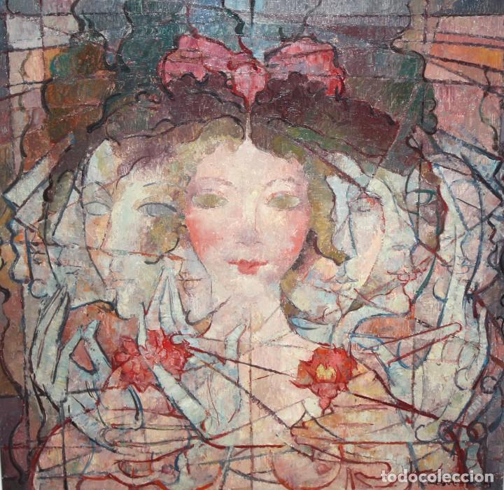 CARLES MADIROLAS (BARCELONA, 1934 - 2007) OLEO SOBRE TELA. COMPOSICIÓN. 78 X 78 CM. (Arte - Pintura - Pintura al Óleo Contemporánea )
