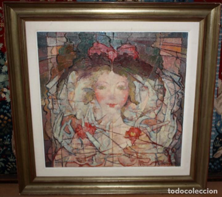 Arte: CARLES MADIROLAS (BARCELONA, 1934 - 2007) OLEO SOBRE TELA. COMPOSICIÓN. 78 X 78 CM. - Foto 2 - 185702200