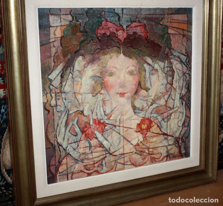 Arte: CARLES MADIROLAS (BARCELONA, 1934 - 2007) OLEO SOBRE TELA. COMPOSICIÓN. 78 X 78 CM. - Foto 3 - 185702200
