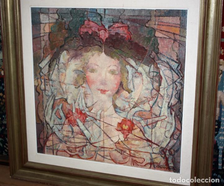 Arte: CARLES MADIROLAS (BARCELONA, 1934 - 2007) OLEO SOBRE TELA. COMPOSICIÓN. 78 X 78 CM. - Foto 4 - 185702200