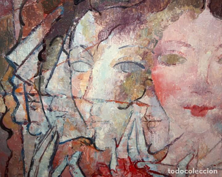 Arte: CARLES MADIROLAS (BARCELONA, 1934 - 2007) OLEO SOBRE TELA. COMPOSICIÓN. 78 X 78 CM. - Foto 6 - 185702200
