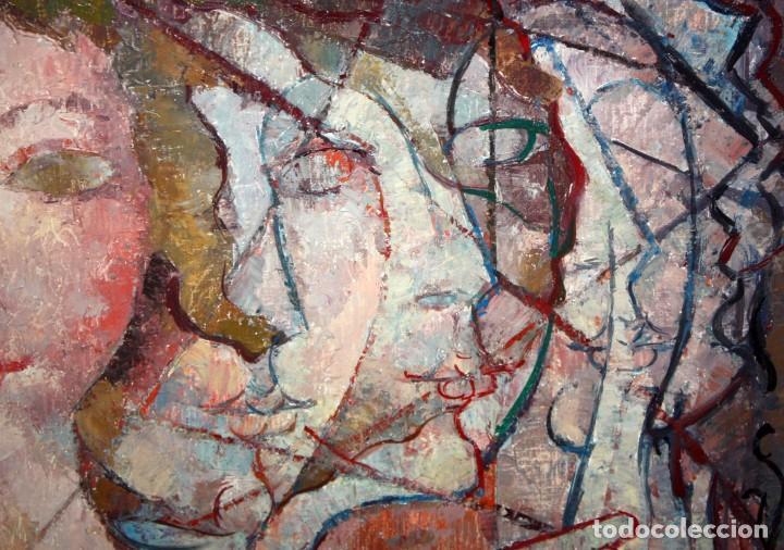 Arte: CARLES MADIROLAS (BARCELONA, 1934 - 2007) OLEO SOBRE TELA. COMPOSICIÓN. 78 X 78 CM. - Foto 7 - 185702200