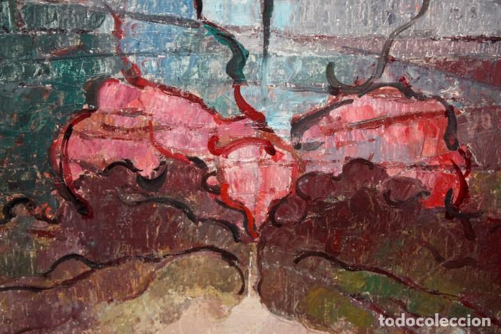 Arte: CARLES MADIROLAS (BARCELONA, 1934 - 2007) OLEO SOBRE TELA. COMPOSICIÓN. 78 X 78 CM. - Foto 9 - 185702200