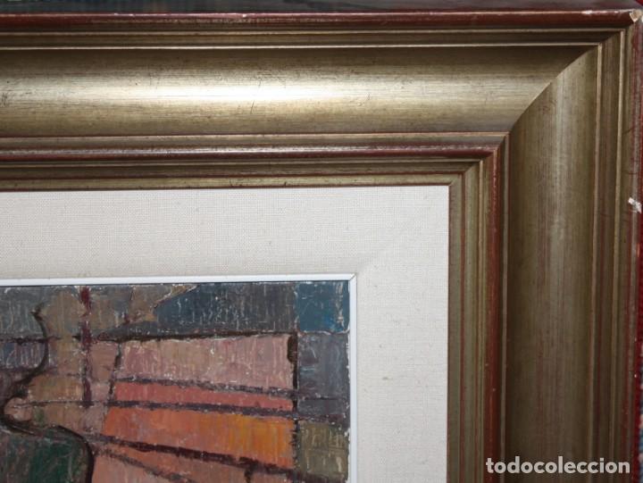 Arte: CARLES MADIROLAS (BARCELONA, 1934 - 2007) OLEO SOBRE TELA. COMPOSICIÓN. 78 X 78 CM. - Foto 11 - 185702200
