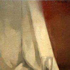 Arte: CARLES MADIROLAS (BARCELONA, 1934 - 2007) OLEO SOBRE TELA. COMPOSICIÓN CON VASO. 81 X 54 CM.. Lote 185702730