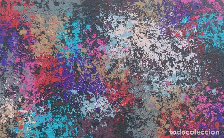 PINTURA ABSTRACTA RECIENTE DE JOSE SANZ SALA REALIZADA SOBRE TABLERO ( 2019 ) (Arte - Pintura - Pintura al Óleo Contemporánea )