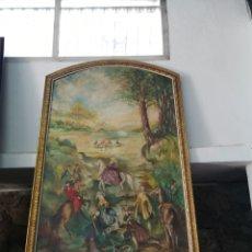 Arte: UN GRAN OLEO SOBRE LIENZO DE DOS METROS. Lote 185713561
