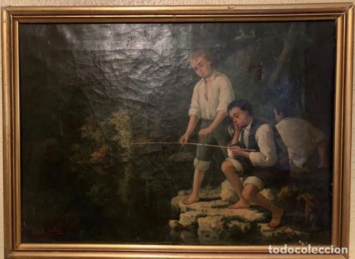 Arte: Cuadro Antiguo Firmado Losada Arce - Foto 4 - 185730898