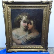 Arte: PRECIOSA OBRA DE ARTE AL ÓLEO SOBRE TELA DEL SIGLO XVIII.EXCELENTE TRAZO Y JUEGO DE LUZ.ANONIMO.. Lote 185752207