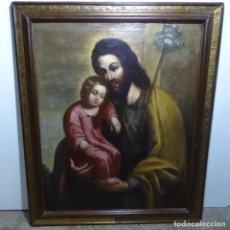 Arte: GRAN ÓLEO SOBRE TELA ESCUELA SEVILLANA DEL SIGLO XVIII EN MARCO DE ÉPOCA.BIEN CONSERVADO.EXCELENTE.. Lote 185752660