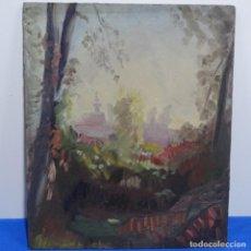 Arte: OLEO SOBRE TABLEX DE JOSEP MARÍA GARROT ROMA.BUEN TRAZO.. Lote 185756587