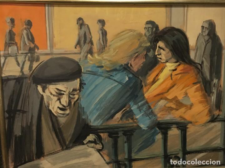 Arte: Paisano leyendo por Manuel Mampaso Bueno (La Coruña 1924-2001) - Foto 4 - 185769428