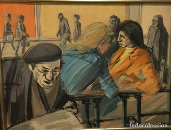 Arte: Paisano leyendo por Manuel Mampaso Bueno (La Coruña 1924-2001) - Foto 5 - 185769428