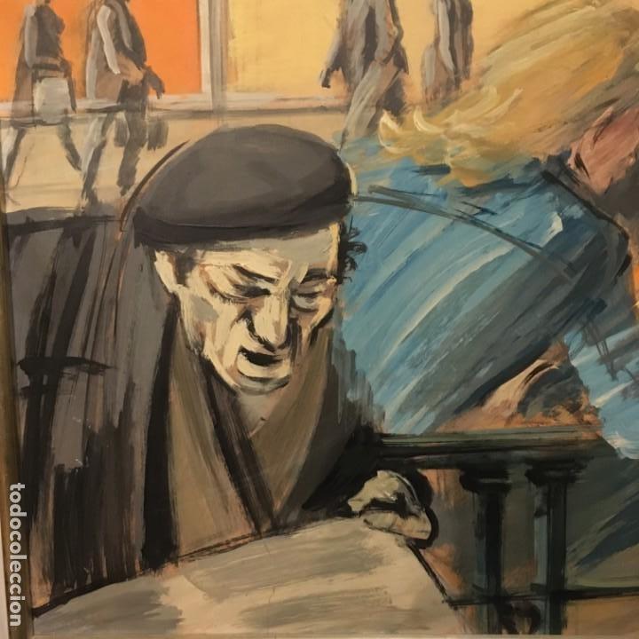 Arte: Paisano leyendo por Manuel Mampaso Bueno (La Coruña 1924-2001) - Foto 6 - 185769428