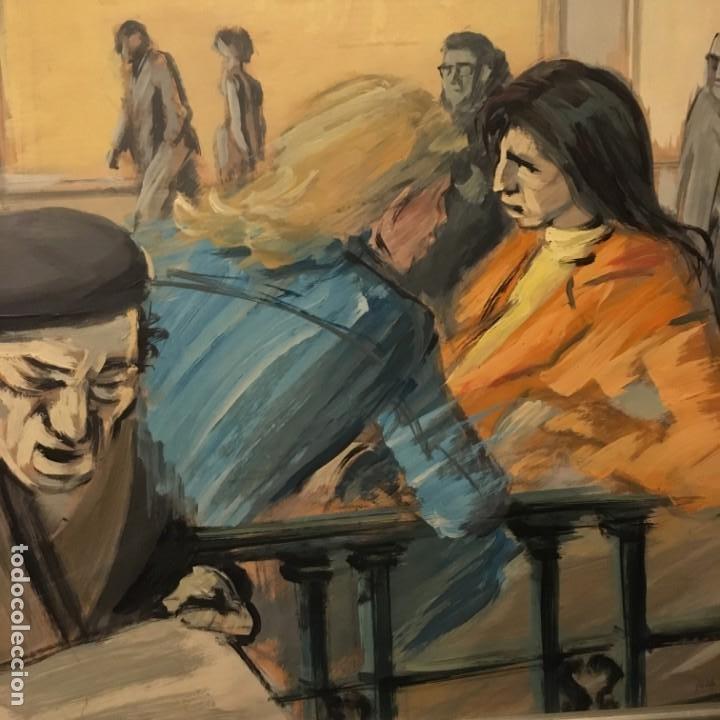 Arte: Paisano leyendo por Manuel Mampaso Bueno (La Coruña 1924-2001) - Foto 7 - 185769428
