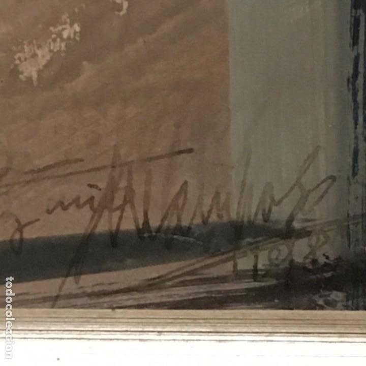 Arte: Paisano leyendo por Manuel Mampaso Bueno (La Coruña 1924-2001) - Foto 9 - 185769428