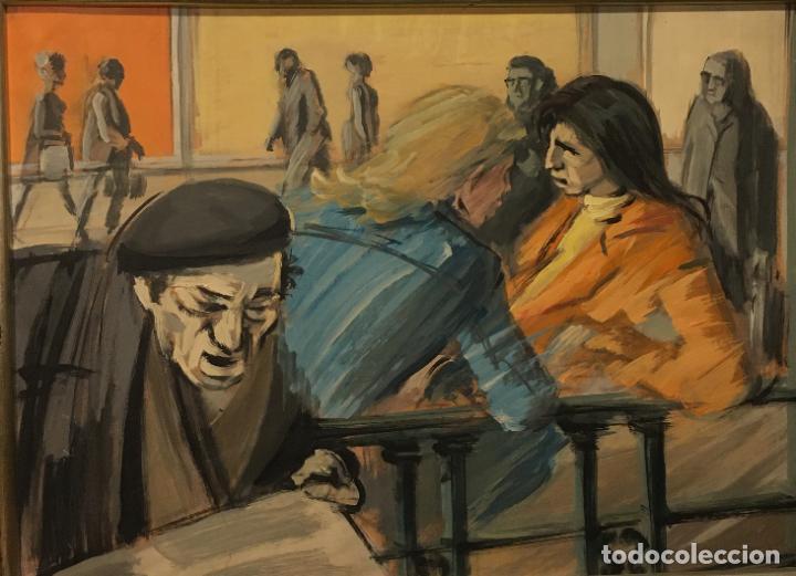 PAISANO LEYENDO POR MANUEL MAMPASO BUENO (LA CORUÑA 1924-2001) (Arte - Pintura - Pintura al Óleo Contemporánea )