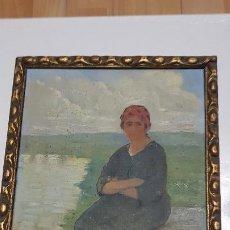 Arte: EMILIO ALIAGA ROMAGOSA-(CASTELLON .1876.VALENCIA 1944) PINTADO EN 1912. Lote 185781872