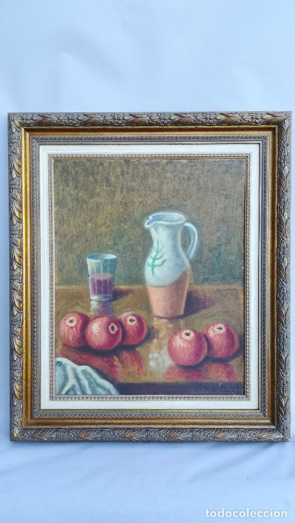 OLEO BODEGON MANZANAS RICARDO ARRUE (Arte - Pintura - Pintura al Óleo Contemporánea )