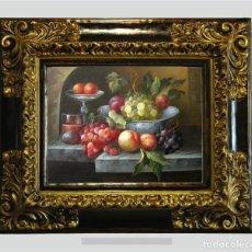 Arte: CUADRO AL ÓLEO SOBRE TABLA. BODEGÓN. 64X54CM. Lote 185909713