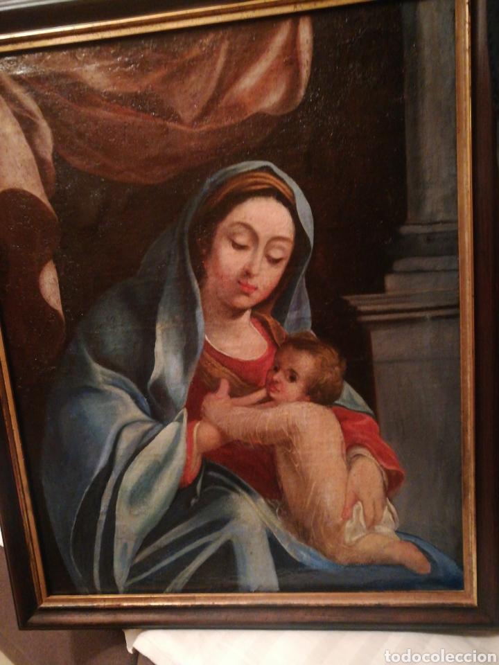 Arte: Virgen con niño escuela Italiana del XVII - Foto 2 - 185917991