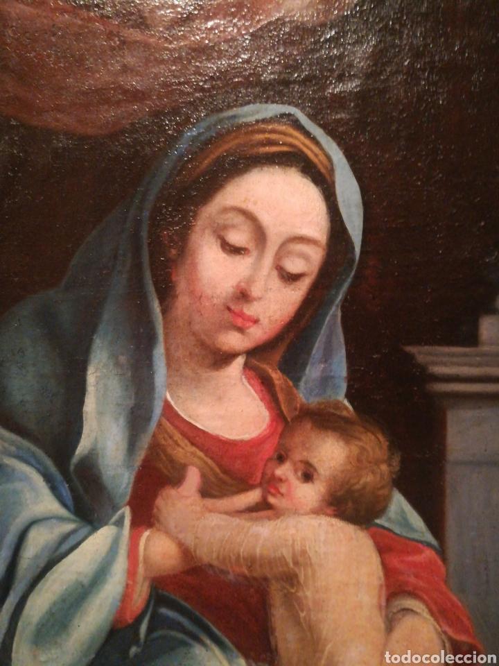 Arte: Virgen con niño escuela Italiana del XVII - Foto 4 - 185917991