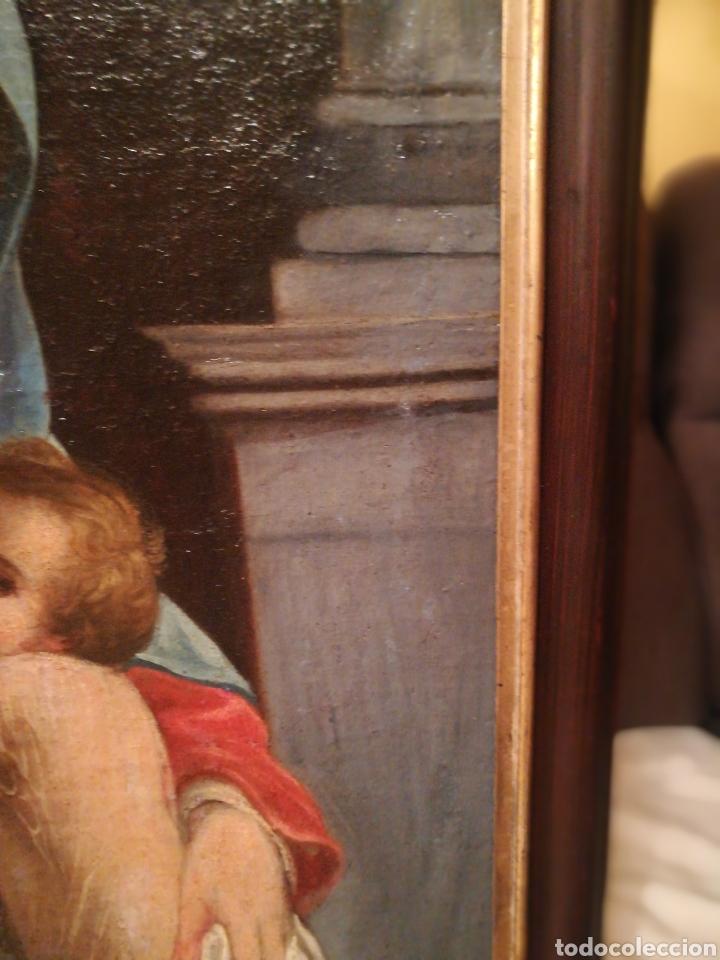 Arte: Virgen con niño escuela Italiana del XVII - Foto 5 - 185917991